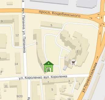 Ветклиника Любимец (Винница): адрес, карта